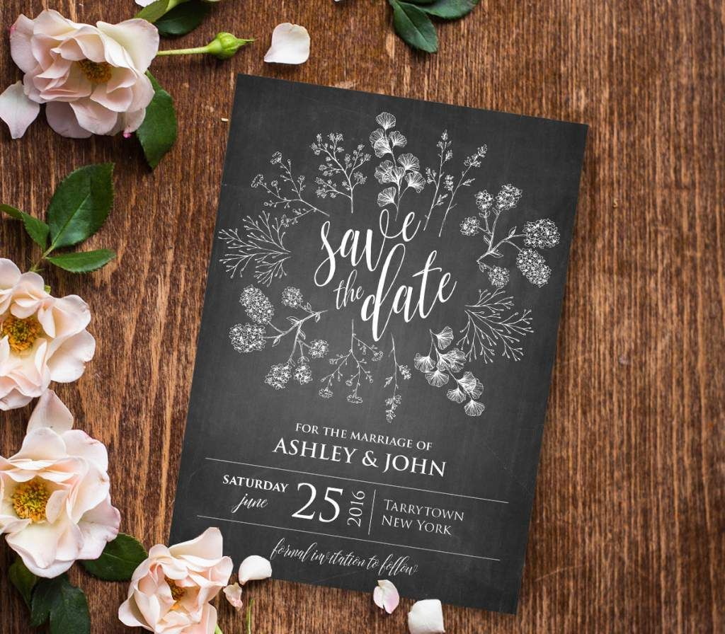 Blank Rustic Wedding Invitation Templates Bridal Wedding
