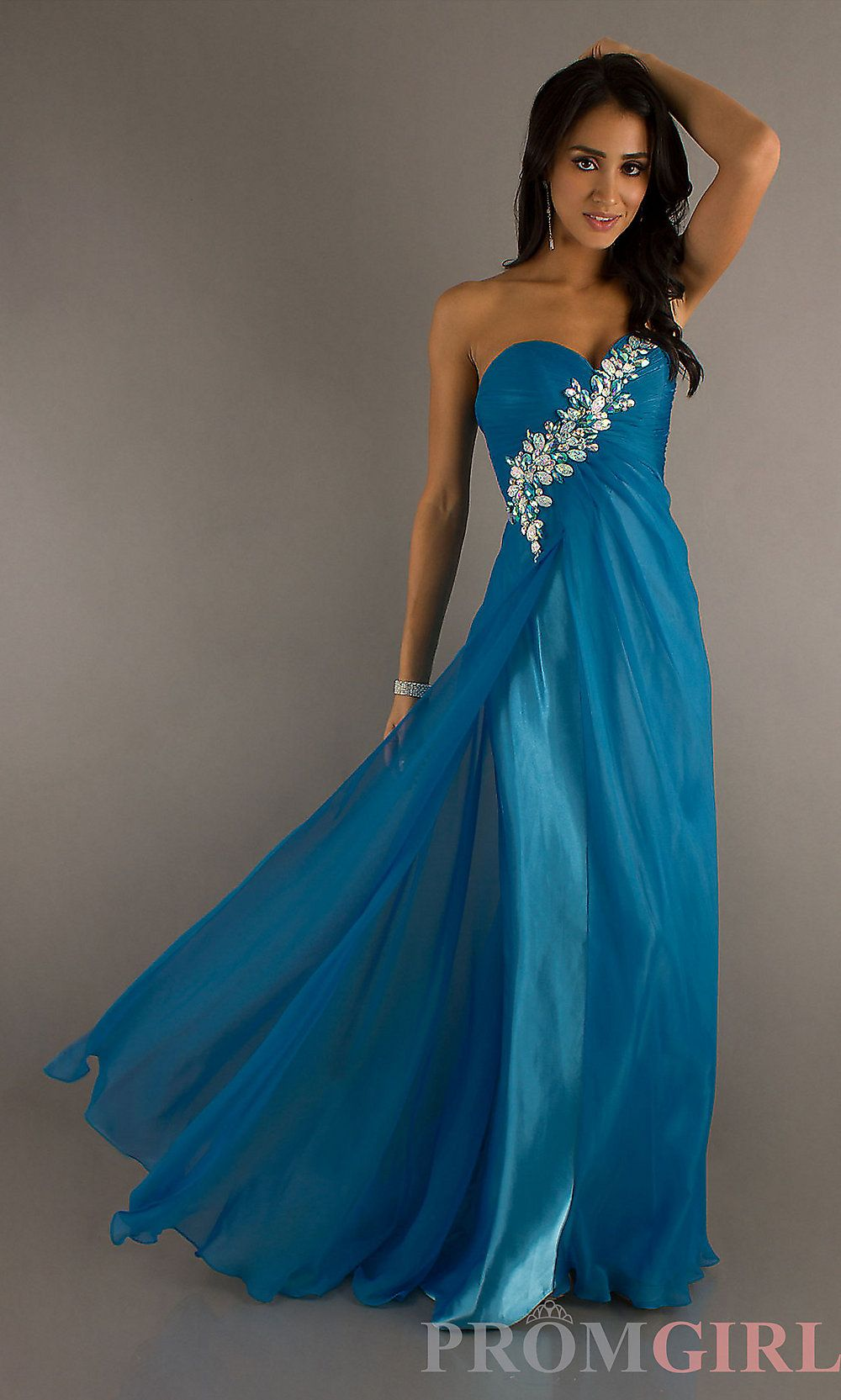42321e0fec5f3 Prom Dresses, Evening Gowns - PromGirl: Strapless Sweetheart Blush Dress  9513