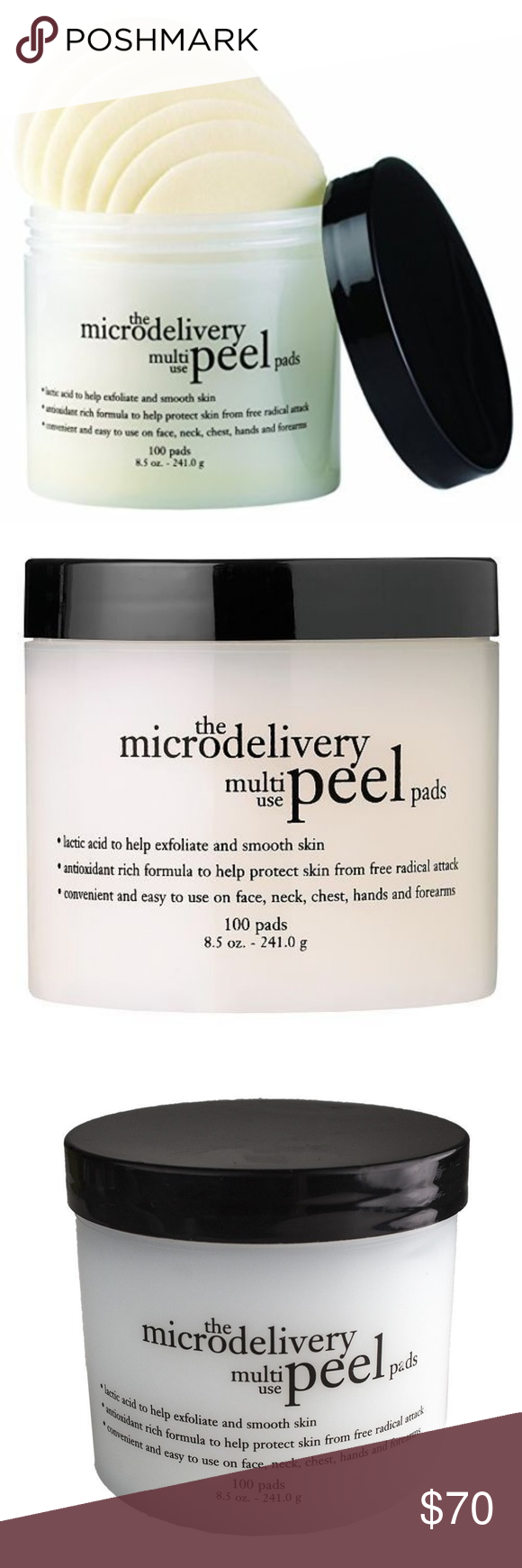 Philosophy The Microdelivery Peel Pads Pads 100 Ct Philosophy The Microdelivery Multi Use Peel Pads 100 Ct 241g 8 5 Peel Pads Exfoliating Pads Skin Protection