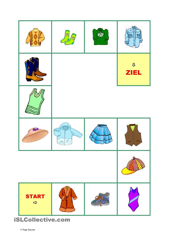 Kleidung-Brettspiel-1 | Kleidung, Deutsch und Sprachförderung