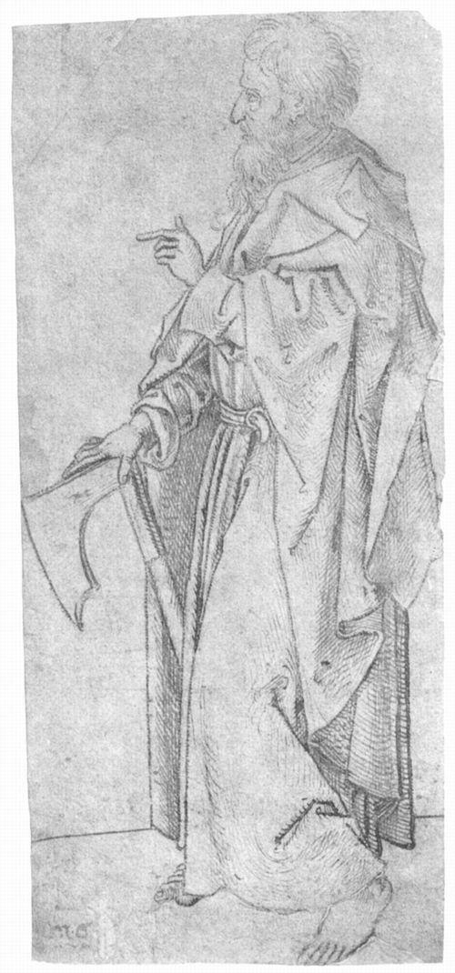 Schongauer, Martin: Hl. Matthias (drawing)