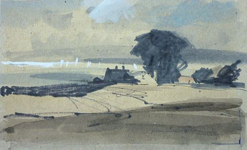 Watercolour by painter and illustrator Rowland Hilder OBE (1905-93), New York born, English.