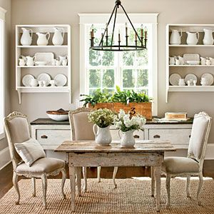 Painting with neutrals paint colors the chandelier and for Neutral colors for kitchen and dining room