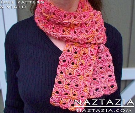 Free Pattern - Crochet Broomstick Lace Scarf with YouTube Tutorial ...