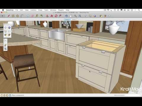 Go 2 School Google Sketchup Videos Exploring Kraftmaid S Google 3d Warehouse Collections Google Sketchup Kraftmaid Sketchup Model