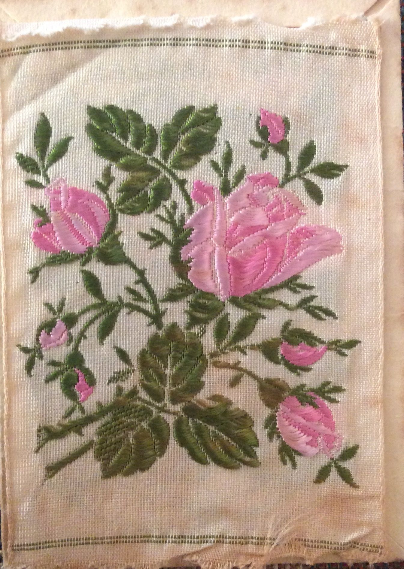 Kensitas Silk Cigarette Card Moss Rose 1930s Tobacco Silks