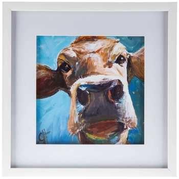 Cow Face Framed Wall Decor Hobby Lobby Wall Art Cow Wall Art Cow Face