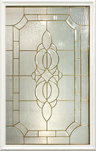 Mastercraft marquise 22 x 36 decorative glass for - Menards exterior doors with glass ...