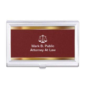 Tenedor de la tarjeta de visita del abogado cajas de tarjetas de negocios