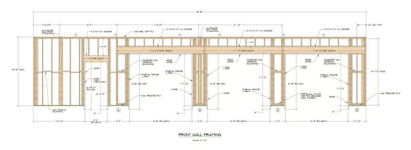 Lvl Framing Header Detail Google Search In 2020 Garage Door Sizes Standard Garage Door Sizes Garage Door Framing