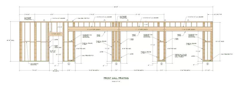 Lvl Framing Header Detail Google Search In 2020 Garage Door Sizes Standard Garage Door Sizes Garage Door Framing