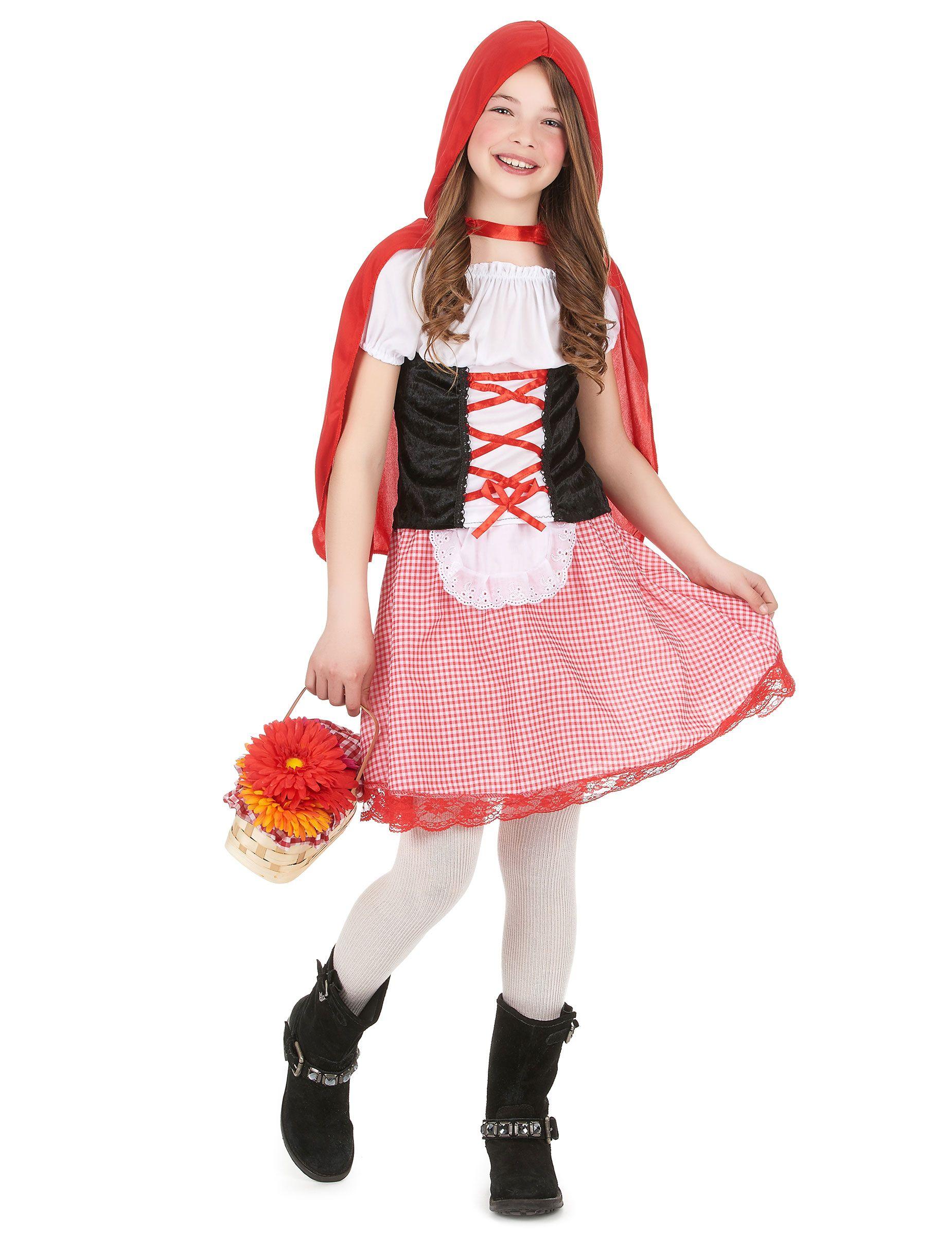 I vestiti di Carnevale Costume Cappuccetto ROSSO fiabe DAMA COSTUME CARNEVALE fiaba