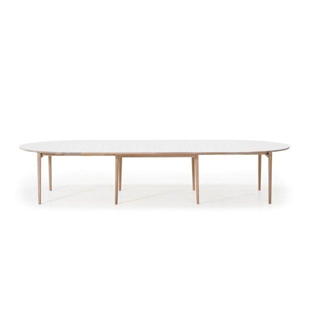 Uitschuifbare Eettafel White Wash.Skovby Uitschuifbare Tafel 78 Wit White Wash Poten