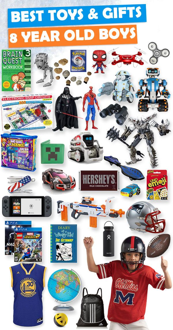 Tons of great gift ideas for 8 year old boys. - Best Toys And Gifts For 8 Year Old Boys 2018 Best Gifts For Boys