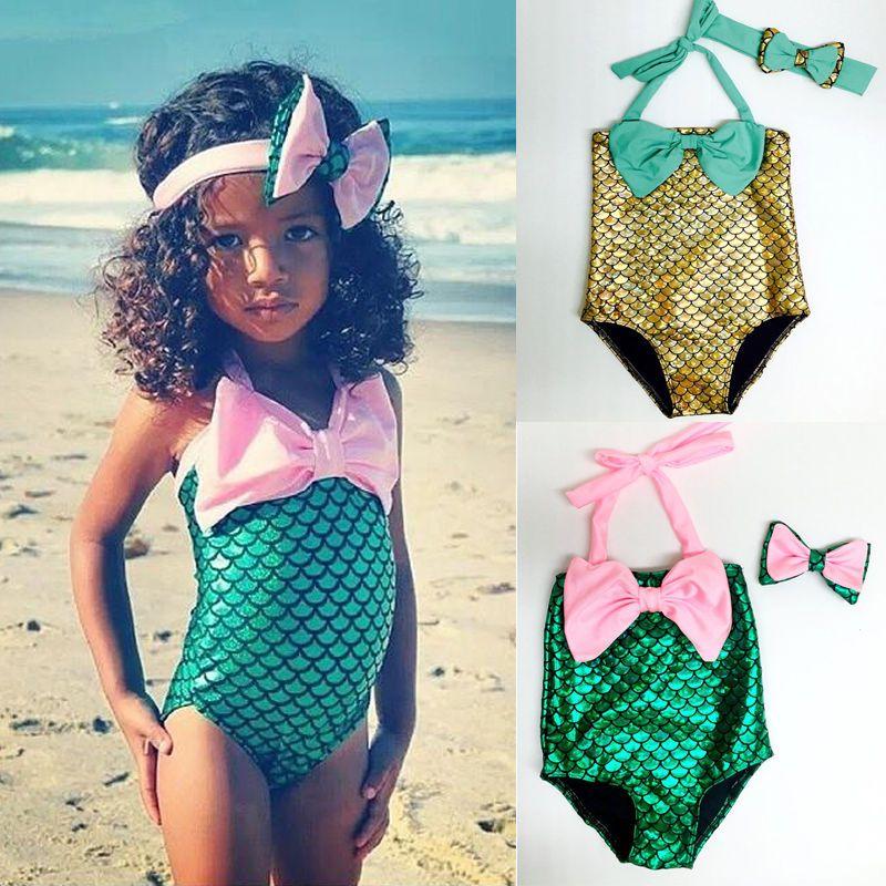 Hot Baby Girls The Little Mermaid Swimwear Swimsuit Bikini