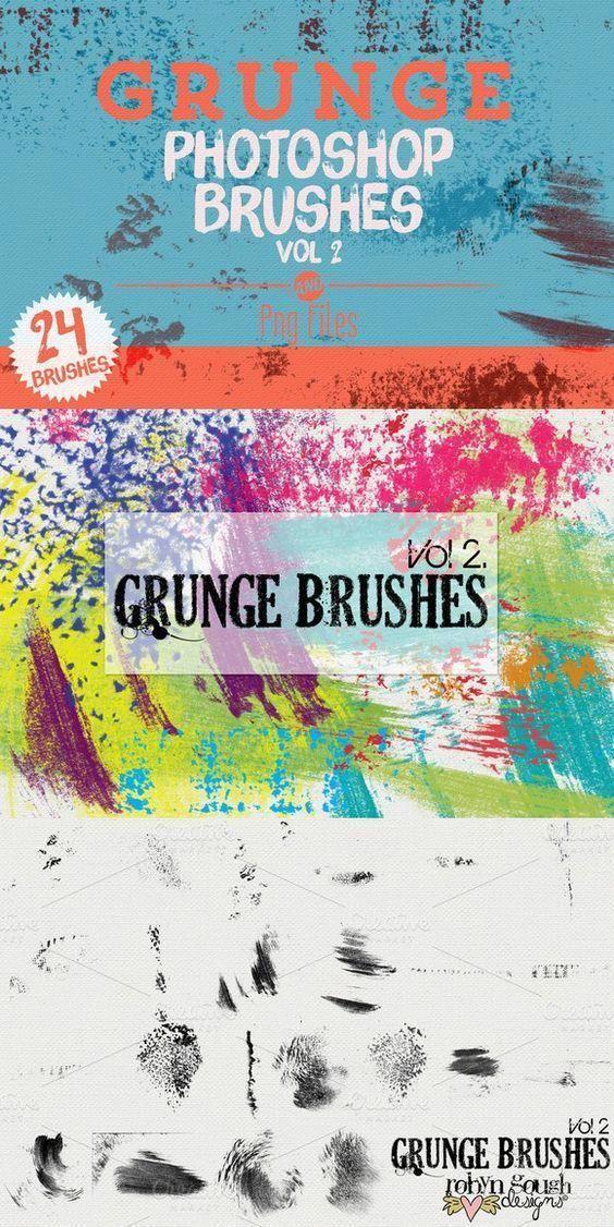 Grunge Photoshop Brushes Vol 2 Photoshop Brushes 900