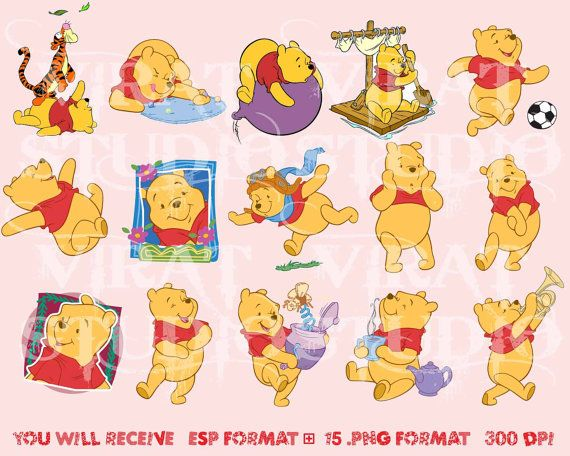 Winnie the Pooh and Friends Clipart vector graphic by ViratStudio ...