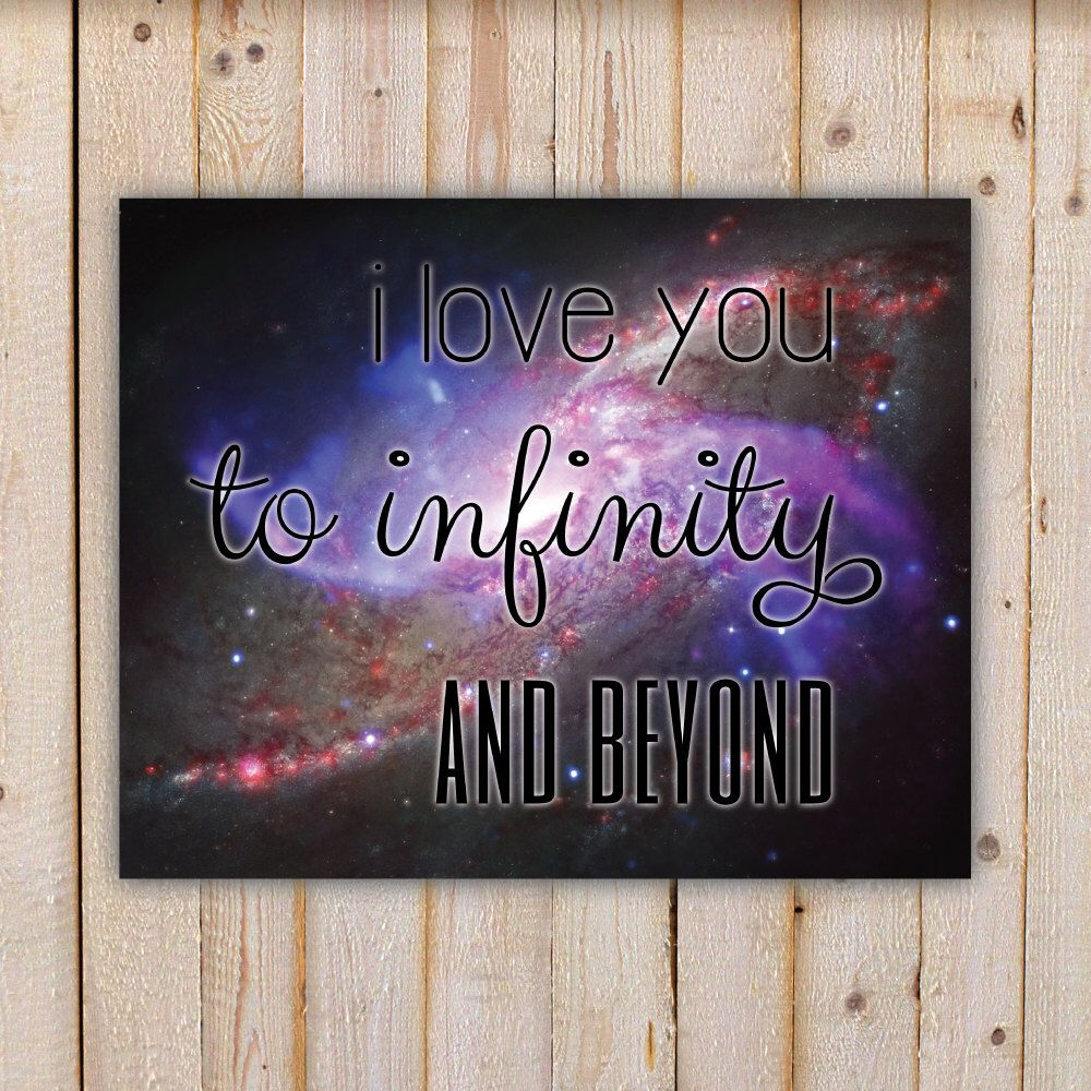 I Love You To Infinity And Beyond, stars - Wall Art Decor ...