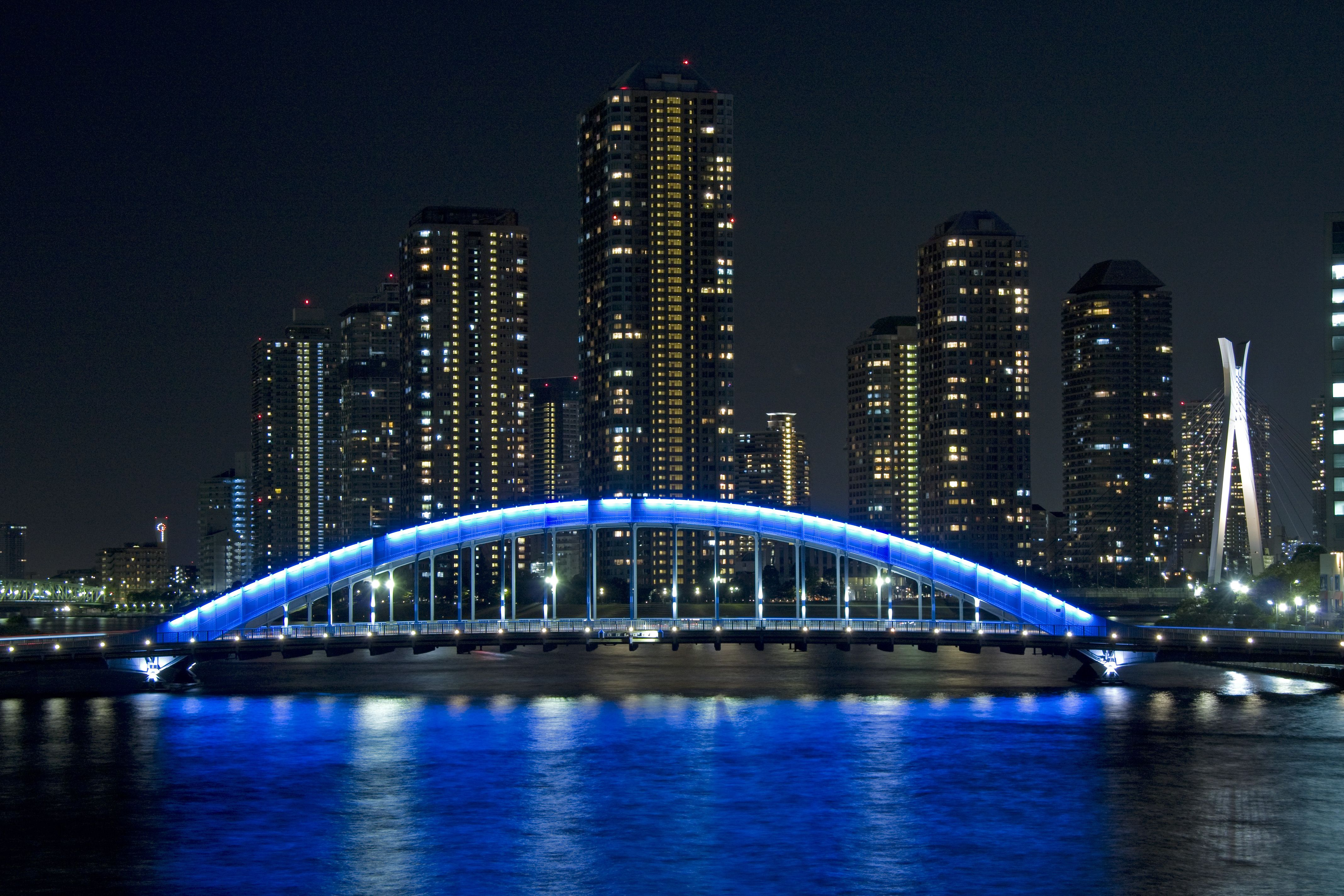 Eitai Bridge Night View HD Wallpaper Landscape WallpaperCity