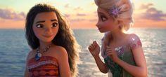 Elsa with Moana