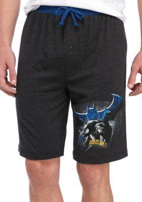Briefly Stated Black Batman Soft Sleep Jam Lounge Shorts
