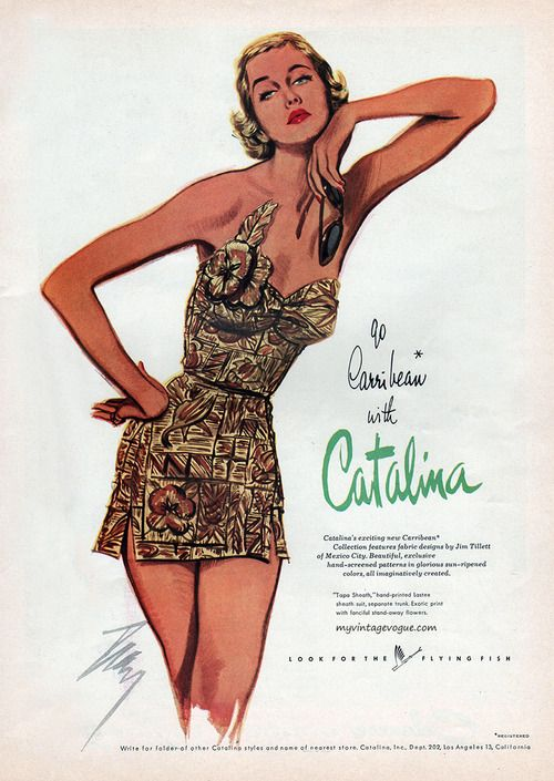 1ac86b6b8a9bc Catalina vintage swimwear   bathing suit ad