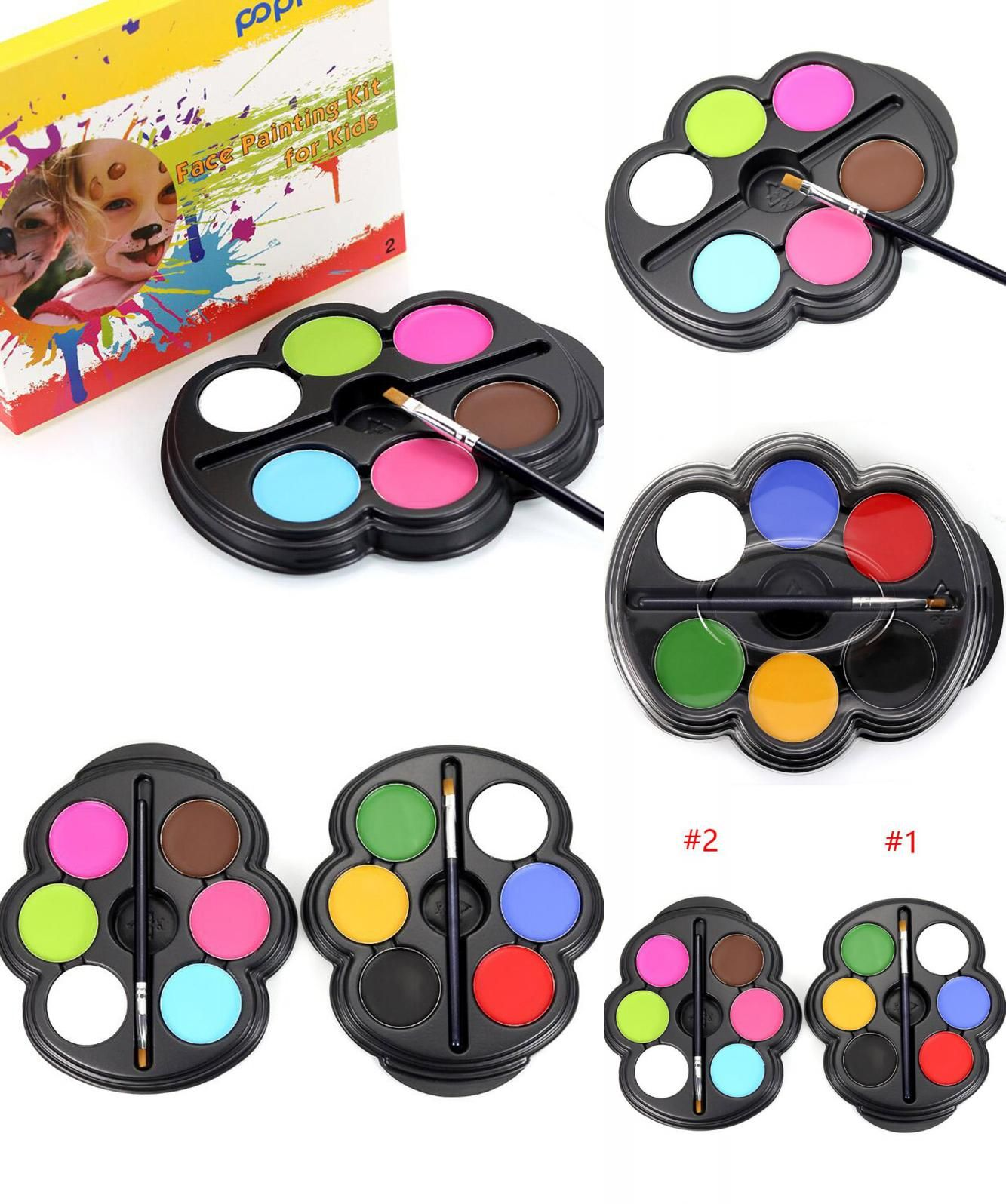 Visit to Buy] 6 Colors Face Paint Halloween Makeup Non-toxic Water ...