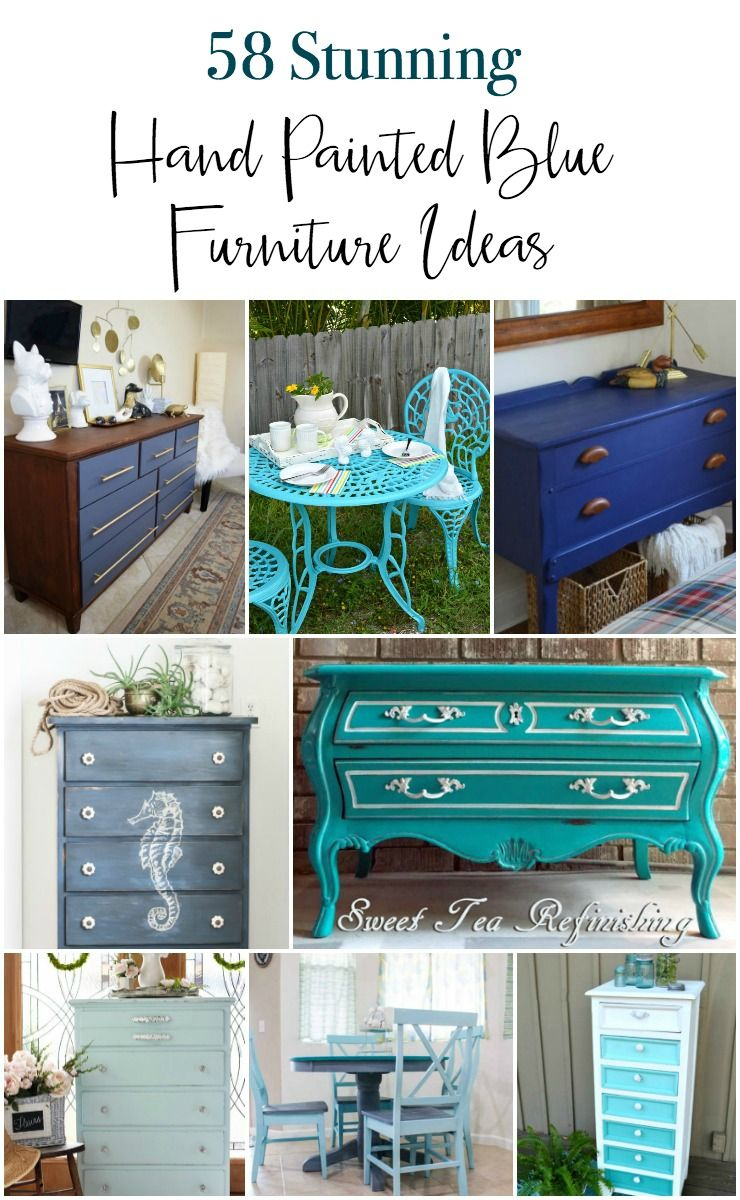 58 Stunning Blue Painted Furniture Pieces Blue Painted Furniture