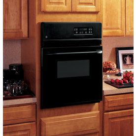 Shop Ge Single Electric Wall Oven Black Common 24 In Actual