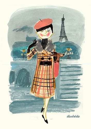 Parisian by ilustrista (via Illustrated Ladies) #ilustrista #Paris #fashion