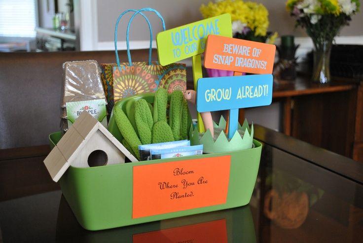 garden theme basket   . Fill a garden tray with affordable garden ...