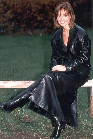 Leather Coat Daydreams: Snapshots of a pretty girl in a long ...