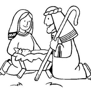 Picture Nativity Of Baby Jesus Coloring Page