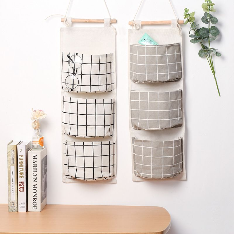 2017 Japanese Style Wall Hanging Storage Bag For Organizer Sundry Storage Pocket For Decoration Hanging Storage Wall Hanging Storage Storage Bags Organization