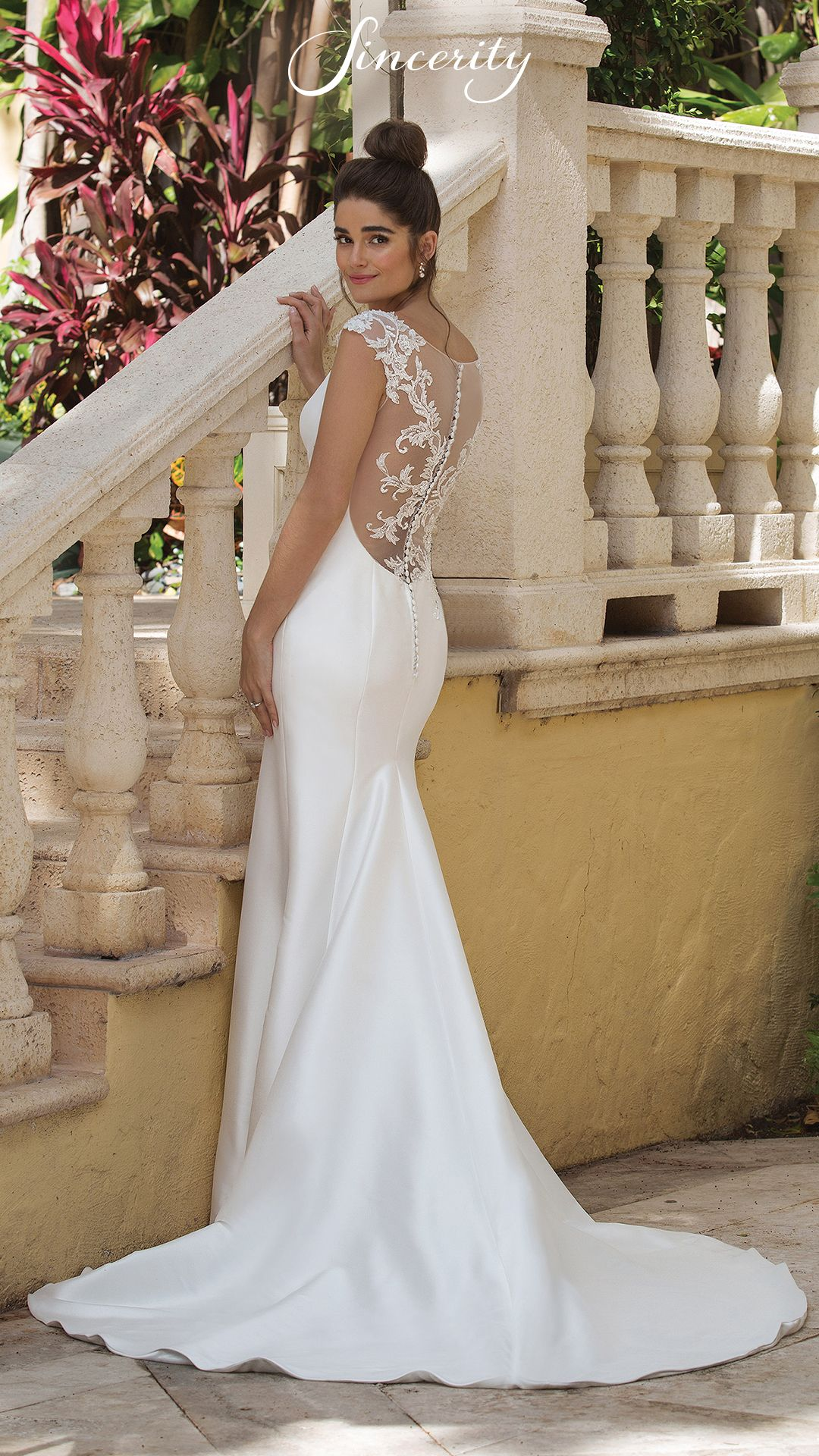 Style 44081 Stand Out On Your Big Day In This Mikado Fit And Flare Gown This Dress Sincerity Bridal Wedding Dresses Sincerity Bridal Sincerity Wedding Dress