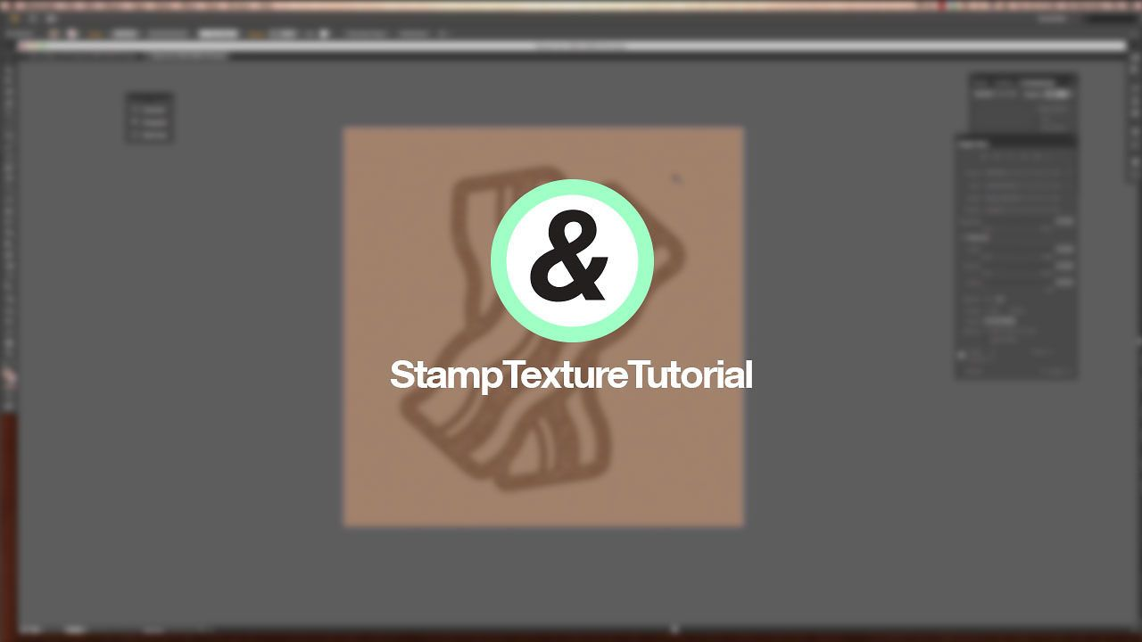 Stamp Texture Tutorial. This tutorial shows you how to achieve a distressed stamp texture in Adobe Illustrator.