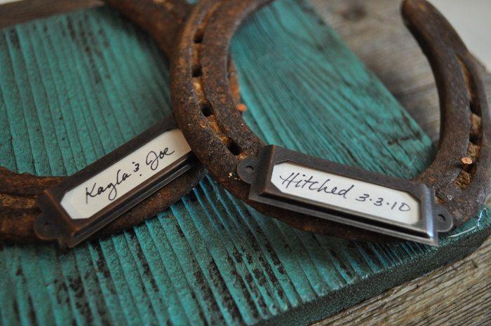 Western Wedding Gift Ideas: Personalized Wedding Gift Rustic Cowboy Western Horseshoe