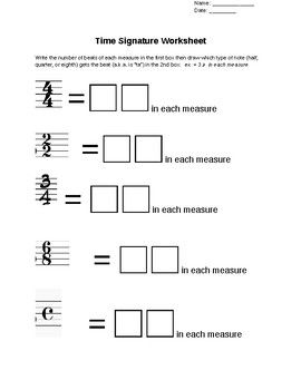 Time Signature Worksheet   Worksheets, Upper elementary ...
