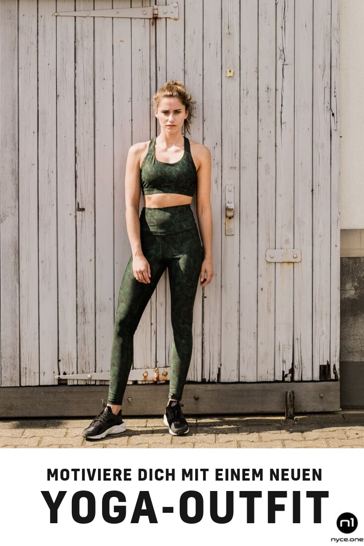 mega schönes sport- und yoga-outfit in brushed-army-green