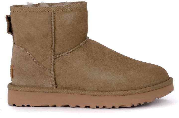 UGG Classic Ii Mini Antelope Suede Sheepskin Ankle Boots