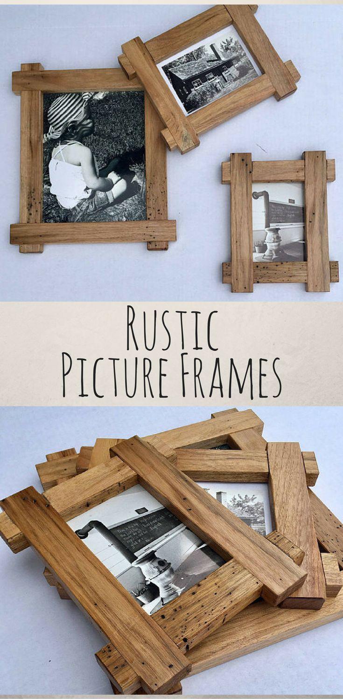 Rustic Picture Frames Rustic Decor Wood Frames Wall Art Wood
