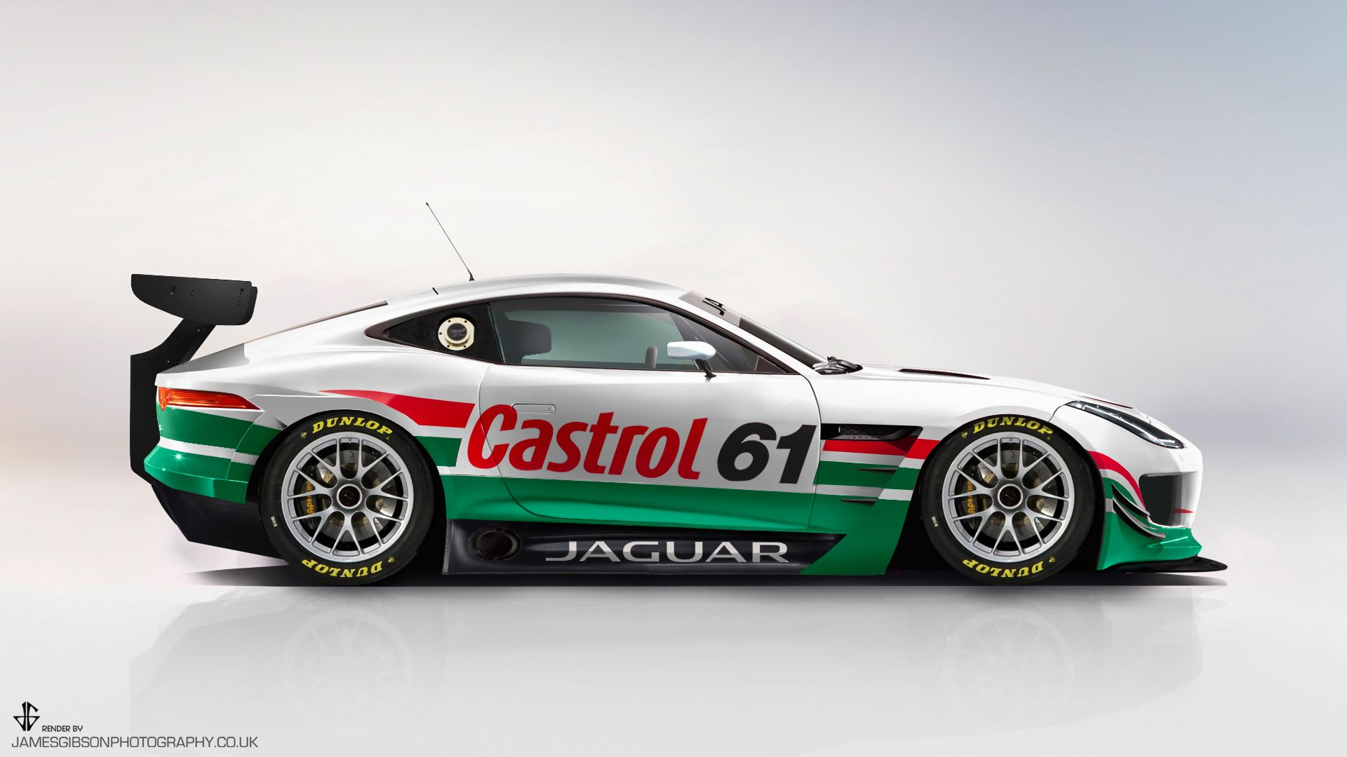 Ftype gt3 side view Castrol James Gibson Photography