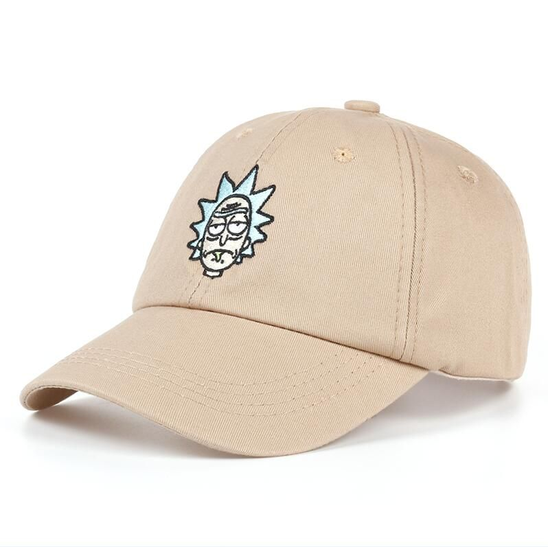 8ab01a12452f6 Shop Rick and Morty New Khaki Dad Hat Crazy Rick Baseball Cap American  Anime Cotton Embroidery Snapback Anime lovers Cap Men Women - Khaki from  AKShop in ...