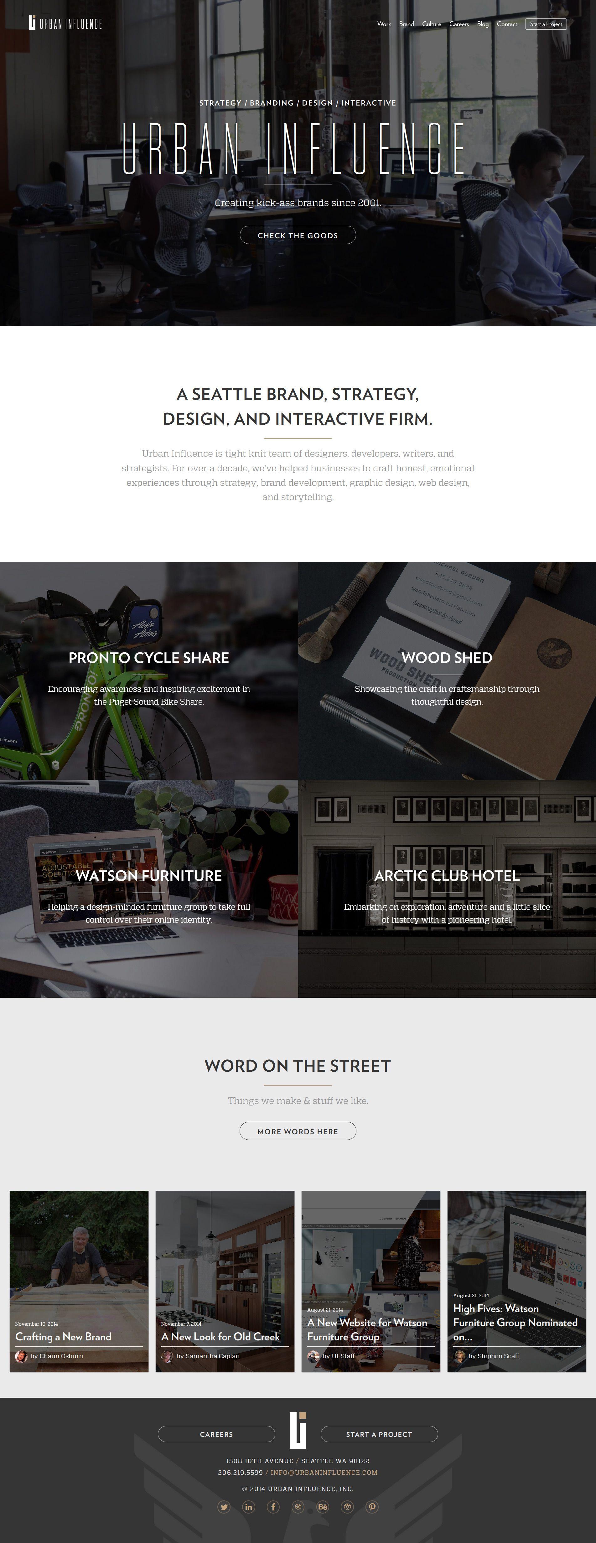 Urban Influence Flat Inspire Web Development Design Web Design Design