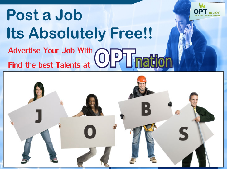 Hire Skilled Talent With Opt Nation Post Your Jobs Advertisements For Free And Reach Higher Job Seekers Create Your Employer Job Ads Job Posting Employment