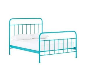 Designer Jessica Queen Size Blue Metal Bed Frame Single Metal