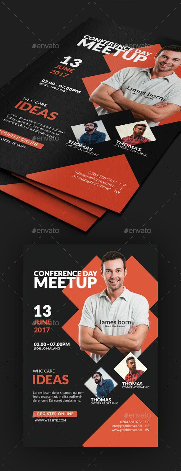 #Summit #Business #Conference #Flyer #template - #Events Flyers #design. downloa...
