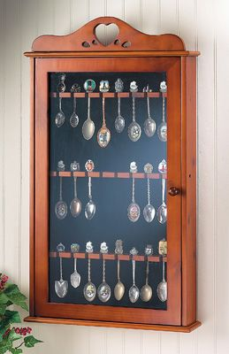 Collectible Spoon Country Cabinet Display Case