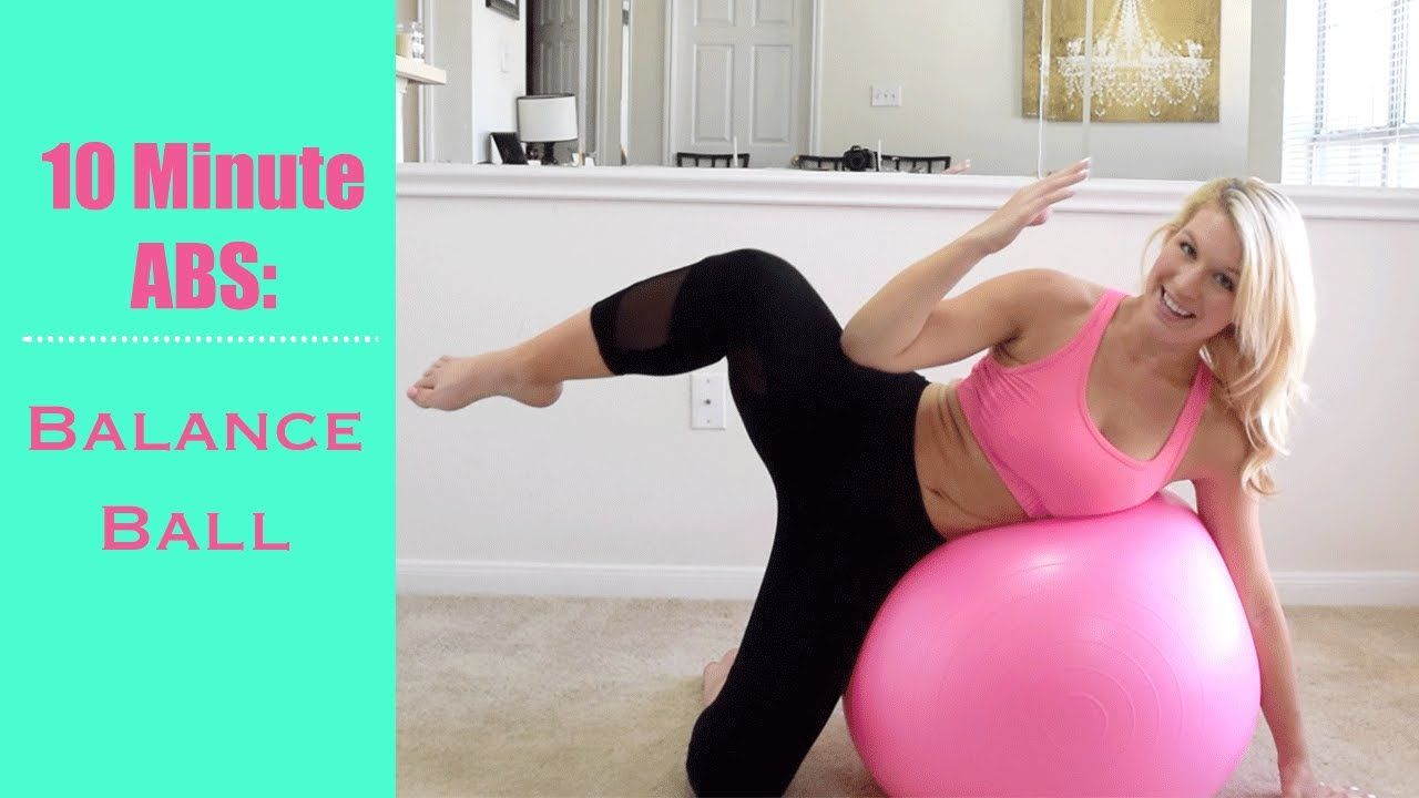 10 Minute ABS: Balance Ball Workout