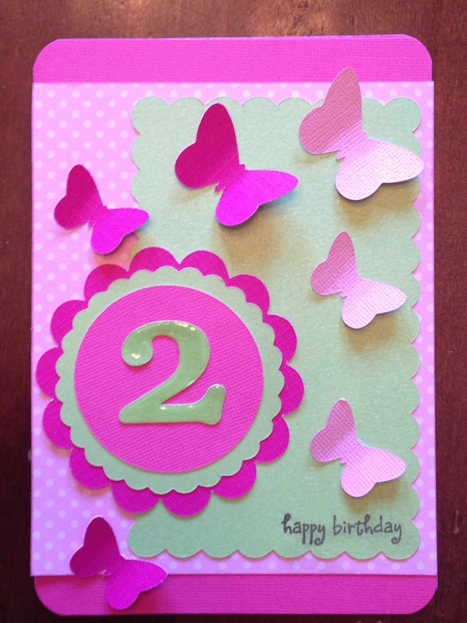 Little Girls 2nd Birthday Card I Made
